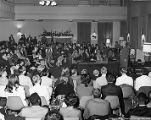 Saul Alinsky speaking at the Symposium on Civil Disobedience in a Democratic Society, Oberlin College, December 1965
