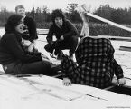 Professor Paul Schmidt, Gail Baker Schmidt, Marcia Aronoff and a student from Yankton, South Dakota on the roof of...