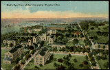 Bird's Eye View postcard of The College of Wooster Campus, 1913