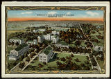Souvenir Folder Postcard of The College of Wooster Campus, ca. 1925
