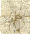 Annotated Map of Columbus, Ohio: Locations of the Industries, Sphere of Influence of the Railroads and Industries
